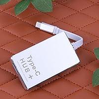 Alloet USB 3.1 Type-C Multi Function HUB Micro SD Card 4K Displays for Macbook Lap