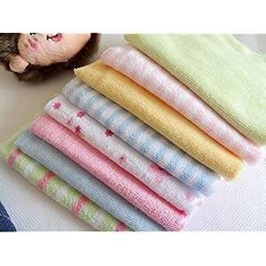 Adriel 8-Piece Gerber Hosiery Soft Cotton Newborn Face Towels (Multicolour)
