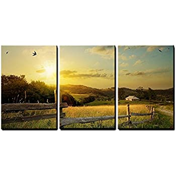wall26 - Rural Landscape Field Art - Canvas Art Wall Decor - 16