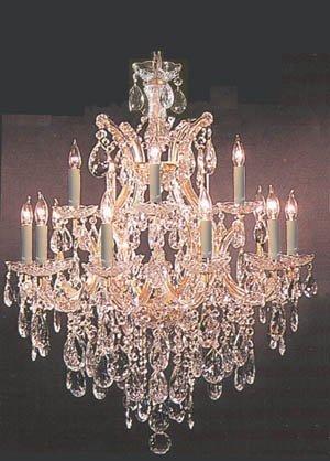 swarovski crystal lighting. Beautiful Lighting Maria Theresa Swarovski Crystal Trimmed Chandelier Lighting Chandeliers H30  X W28 Intended G