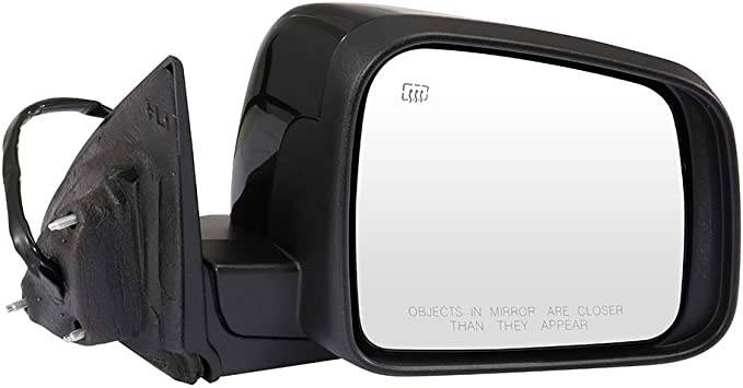 Exterior Power Heated Manual Folding Mirror Black LH Side for Dodge Charger