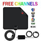 #9: HDTV Antenna Indoor Digital TV Antenna, Lxuemlu 50 Miles Rang HD Antenna with Detachable Amplifier Signal Booster and 13FT Coaxial Cable - Extremely High Reception