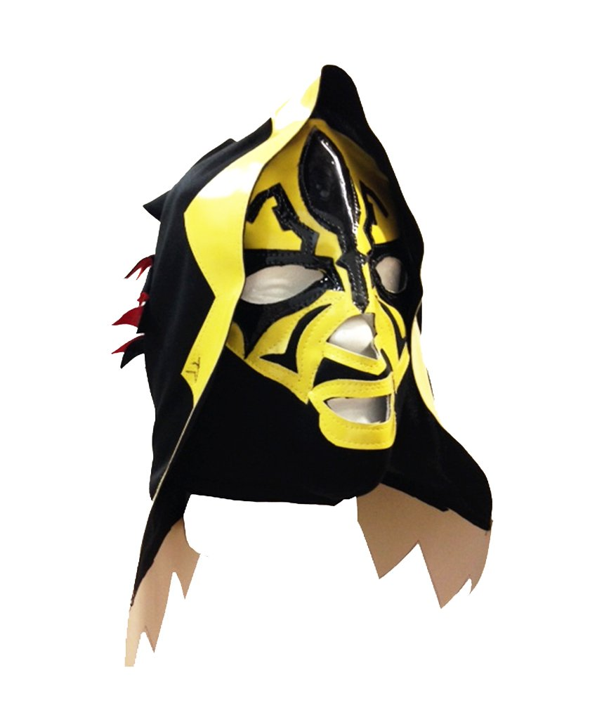 LA PARKA Lucha Libre Wrestling Mask (pro-fit) Halloween Costume Wear - Yellow by Mask Maniac