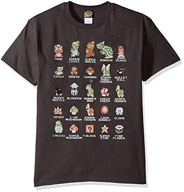 Nintendo Retro T-Shirt Super Mario Bros Pixel Characters