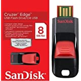 SanDisk Cruzer Edge 8GB USB 2.0 Flash Drive (Red/Black)