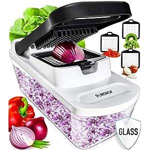 Fullstar Vegetable Chopper Food Chopper – Tomato Dicer, Onion Chopper, Vegetable Cutter – Food Dicer Chopper with Glass…