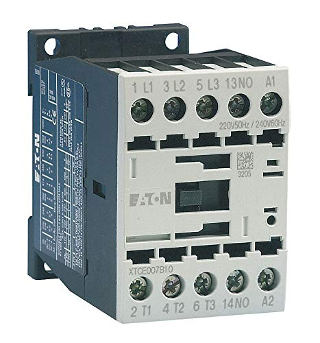 Eaton Electrical - XTCE007B01C - 480VAC IEC Magnetic Contactor; No. of Poles 3, Reversing: No, 7 Full Load Amps-Inductive by CAI - EATON (Image #1)