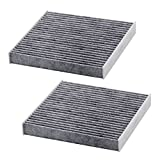 Kootek Car Cabin Air Filter Replacement for CF10285 with Active Carbon for Toyota / Lexus / Scion / Subaru, against Bacteria Dust Viruses Pollen Gases Odors, 2 Pack