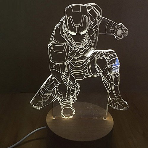 BEST Lamp Fantastic RGB 3D 7-Color Gadual Changing LED Touch Switch ,Desk Lamp and Nightlight Perfect Gift For Kids (Marvels Avengers 3d Blu Ray compare prices)