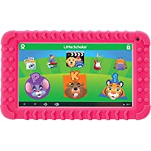 """School Zone Little Scholar Best Kids 7"""" Tablet, Ages 3-7, PreK-1st Grade, +Bumper, Android, Quad-Core, 16 GB, Wi-Fi, Front & Rear Camera, Pink (08612)"""