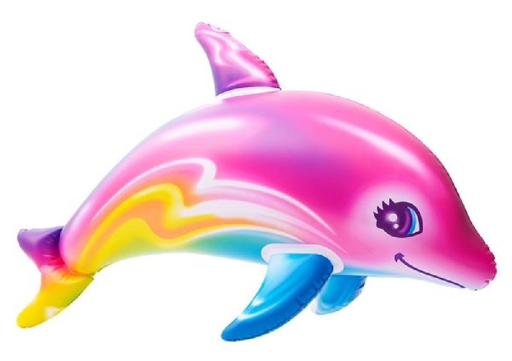 Novelty Treasures 36 Colorful Rainbow Dolphin Inflate Pool Beach Birthday Party Toy JOI