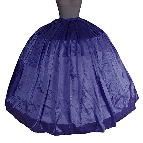 Bridal _ Mall de la mujer multicolor 6anillos de novia disfraz de suelo Longitud boda enaguas Slips MediumSlateBlue