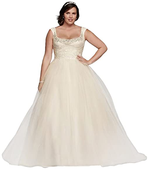 Davids bridal plus size oleg cassini off the shoulder lace davids bridal plus size oleg cassini off the shoulder lace wedding dress style 8cwg733 junglespirit Image collections