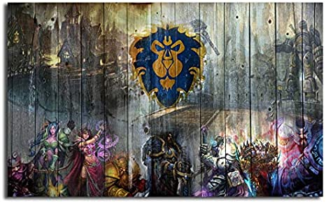 Mode Peinture Toile World Of Warcrafts Wow Alliance Peinture Imprimer Chambre Decor A La Maison Moderne Mur Art Peinture A L Huile Affiche Picturer No Frame Peintures 60 90cm Amazon Fr Bricolage