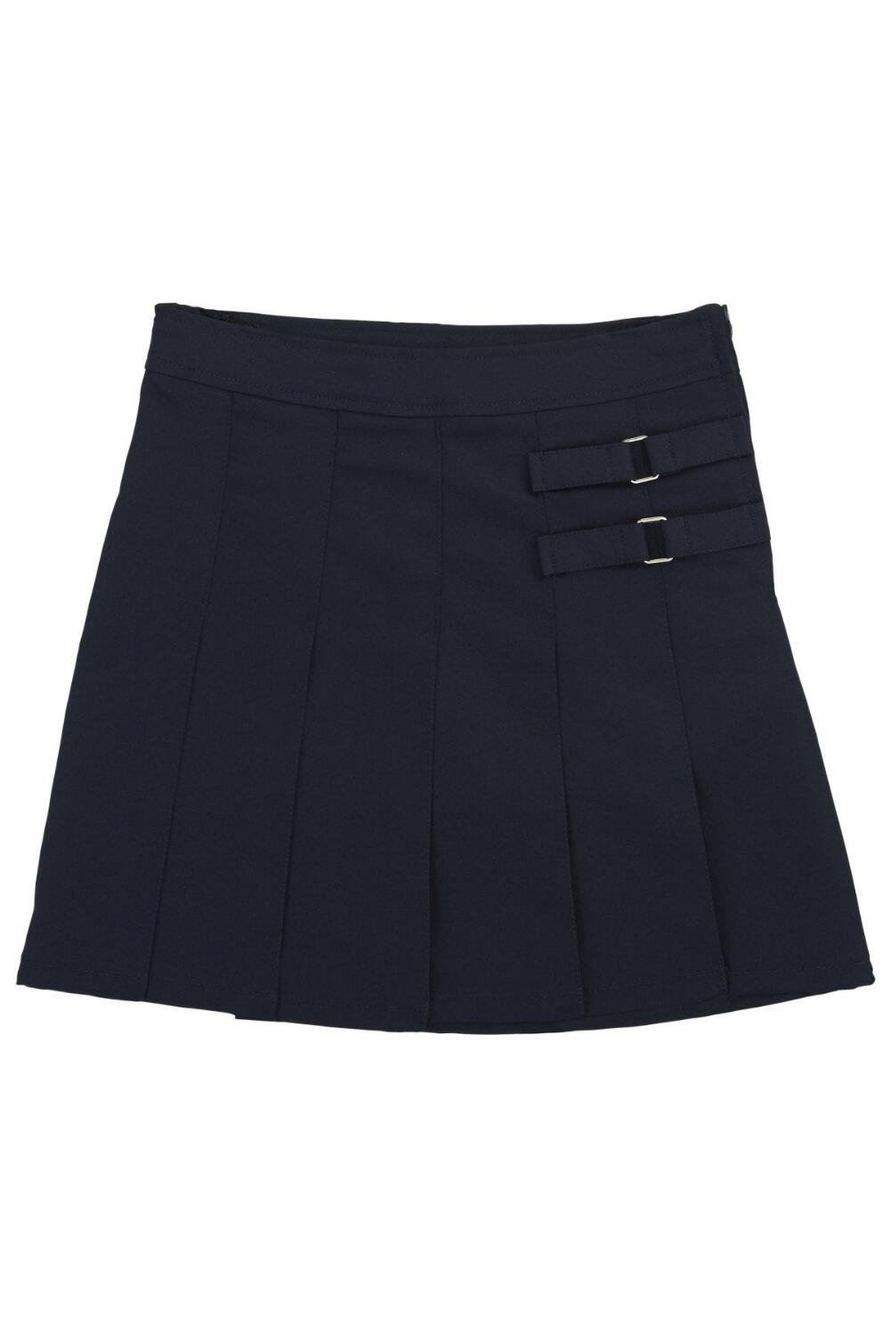 French Toast Little Girls' Toddler Two-Tab Pleated Scooter, Navy, 3T