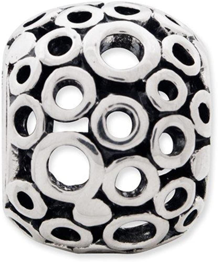 Sterling Silver Reflections Circles Bali Bead Solid 8.18 mm 10.00 mm Themed Beads Jewelry