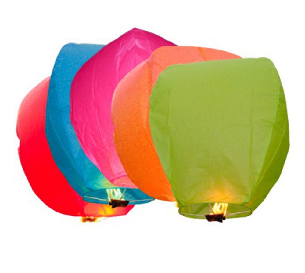 MIXED SKY LANTERNS - CHINESE LANTERNS - WEDDINGS - CELEBRATIONS (5 Pack) Sky Lanterns Ltd.