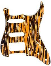 Elektrische gitaar slagplaat, gitaar beschermende slagplaat Gitaar krasplaat 3-lagen met aluminium afscherming Eenvoudige installatie(geel zwart)