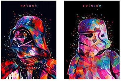 5d Pintura Por Diamantes Star Wars darth vader stormtrooper