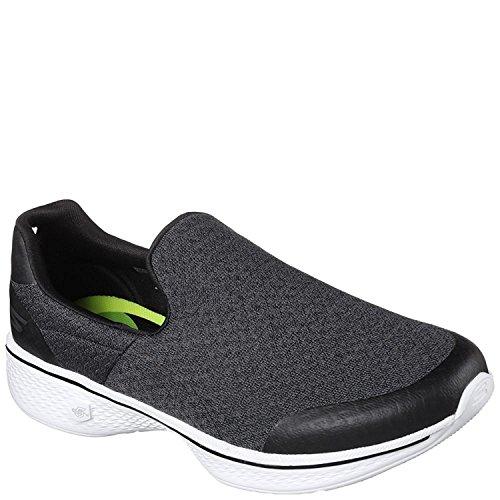 Go Walk Performance On Black Mix Slip Walking Skechers White Women's Shoe UZSwq6