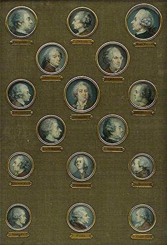 (Oil Painting 'French- Set Of Sixteen Miniatures Of French Eighteenth-Century Notables, Nineteenth Century' Printing On High Quality Polyster Canvas , 18x26 Inch / 46x67 Cm ,the Best Kitchen Decor And Home Gallery Art And Gifts Is This Best Price Art Decorative Prints On Canvas)