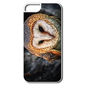 Case For Iphone 6 Plus (5.5 Inch) Cover, Owl Portrait White Cases Case For Iphone 6 Plus (5.5 Inch) Cover