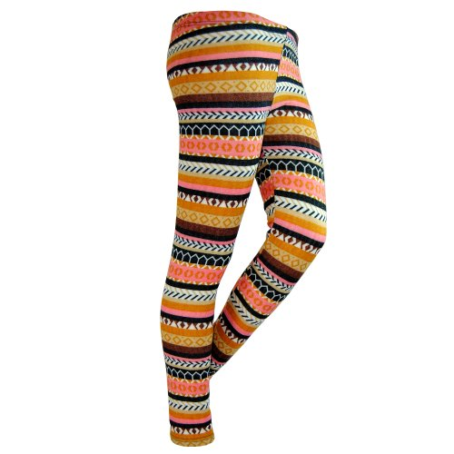 Basico Lady Hacci Leggings Brushed (Yellow&Brown), used for sale  Delivered anywhere in USA