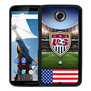 Lovely And Durable Custom Designed Case For Google Nexus 6 With USA Soccer 11 Black Phone Case