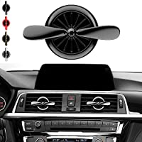 Propeller Airplane Shaped Car Diffuser Vent Clip Air Freshener Aromatherapy Air Purifier Ionizer (black)