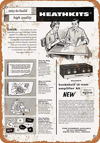 UFceLl 8 x 12 Metal Sign - 1958 Build a Heathkit Amplifier for sale  Delivered anywhere in USA