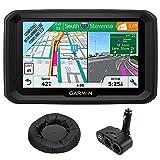 Garmin 5'' GPS Navigator for Trucks & Long Haul (010-01858-02) with Universal GPS Navigation Dash-Mount & Dual DC12V/24V Electronic Multi-functions Car Socket Cigarette Lighter USB Ports