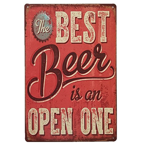 AiYahoo Best Beer Signs Retro Tin Poster Theme Vintage Sign Bar Decoration 12