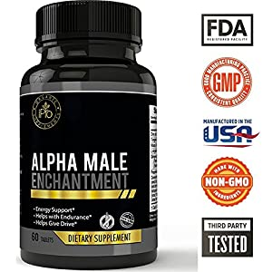ALPHA - Male Performance Enhancement Pills, Male Libido Enhancer, Male Performance Supplements, Fertility Support for Men,Male Enhancing Pills Erection, Male Libido Booster, All Natural, FREE SHIPPING