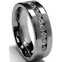 8 MM Men's Titanium ring wedding band
