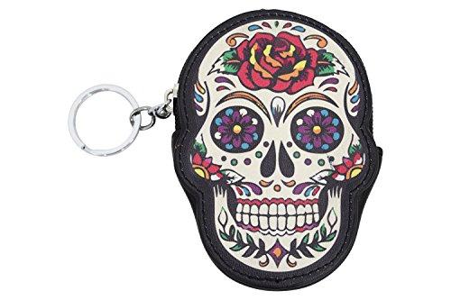 (Lost Queen Rose Sugar Skull Dia De Muertos Coin Purse wallet)