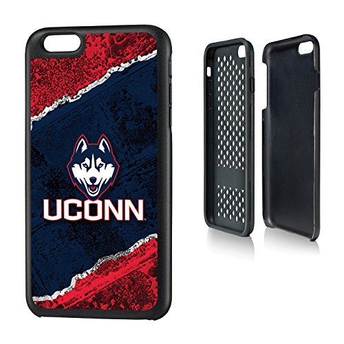 Connecticut Huskies iPhone 6 Plus & iPhone 6s Plus Rugged Case officially licensed by the University of Connecticut for the Apple iPhone 6 Plus by keyscaper® Durable Two Layer Protection -
