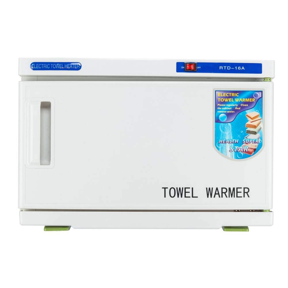 Weiker Towel Tool Sterilizer Warmer Cabinet UV & Heating Spa Facial Disinfection Salon Beauty (16L)