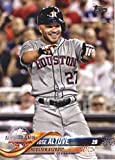 2018 Topps Update and Highlights Baseball Series #US299 Jose Altuve Houston Astros Official MLB Trading Card