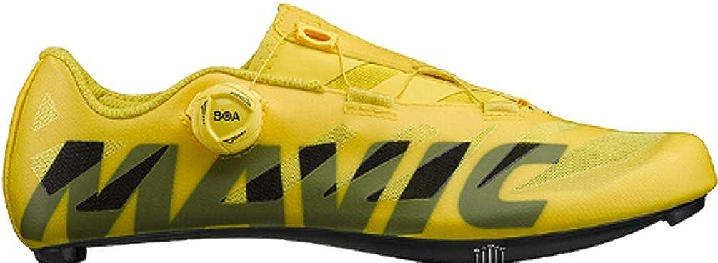 Mavic - Zapatillas de Ciclismo de Sintético para Hombre Amarillo Amarillo: Amazon.es: Zapatos y complementos