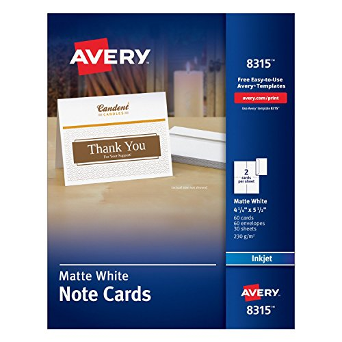 Avery iApFk Cards Inches Matte