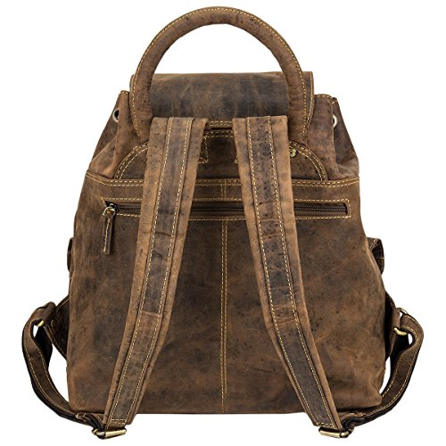 dos à Vintage braun 35 Sac Greenburry cm cuir qwtEPxfB