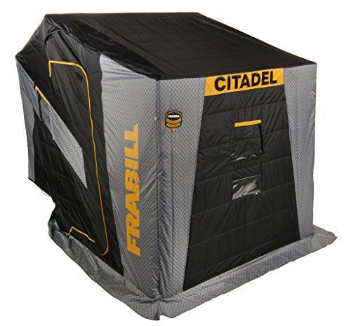 Frabill Ice Fishing Shelter - Frabill Citadel 3455 Insulated Flip-Over W/Bench Seat Black/Gray