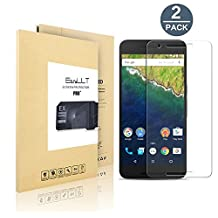 [2 pack] Huawei/Google Nexus 6P Screen Protector, EasyULT Premium Tempered Glass Screen Protector,with Double Defense Technology with [2.5D Round Edge] [9H Hardness] [Crystal Clear] [Scratch Resist] [No-Bubble]