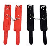 Qisuw 22pc Leather Handccuffs for Couples Men Women -BSDM Kit for Bed Exercise
