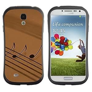 "Hypernova Slim Fit Dual Barniz Protector Caso Case Funda Para SAMSUNG Galaxy S4 IV / i9500 / i9515 / i9505G / SGH-i337 [La notación musical""]"