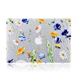 iDonzon MacBook Pro 13 inch Case (2016-2018 Release) A1989/A1706/A1708, 3D Effect Matte See Through Hard Case Cover Compatible Newest Mac Pro 13.3 inch with/Without Touch Bar and Touch ID - Floral