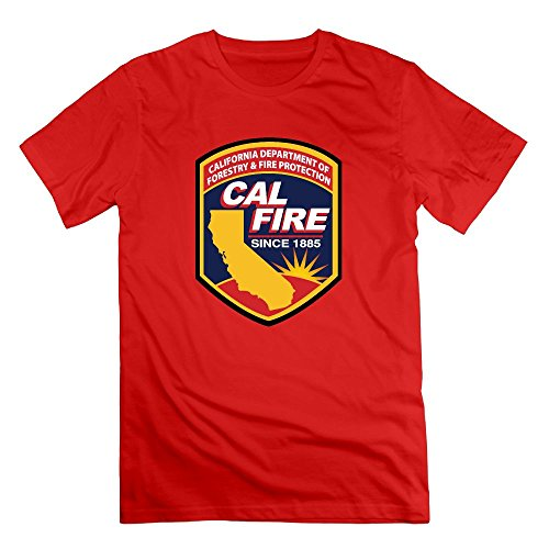 Cal Fire Southern California Strong Mens 100% Cotton Short Sleeve Shirts Graphic Tshirt Tee