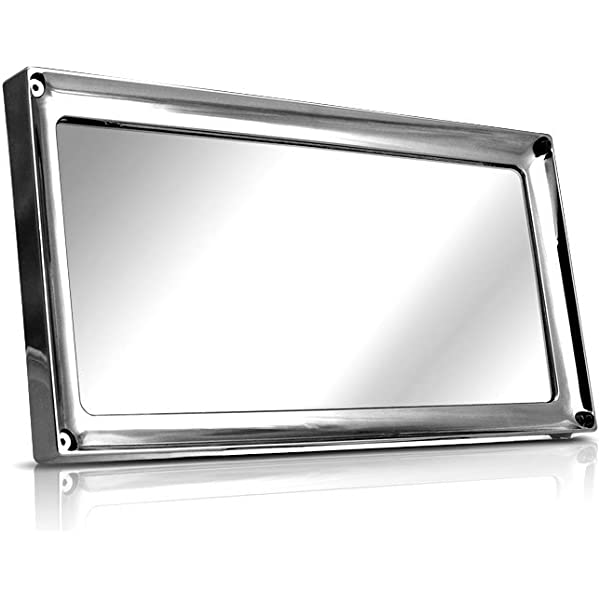 1 x PRESTIGE CHROME STAINLESS STEEL NUMBER PLATE SURROUND HOLDER FOR TOYOTA