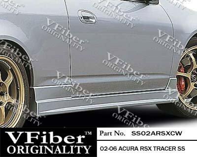 2002-2006 Acura RSX HB Body Kit Tracer Side Skirt (Vfiber Tracer)
