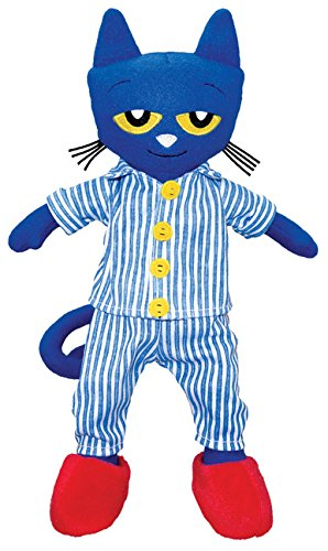 Amazon.com: MerryMakers Pete the Cat Bedtime Blues Doll, 14.5-Inch ...